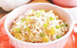 老犬自制狗粮:鸡肉糙米稀饭