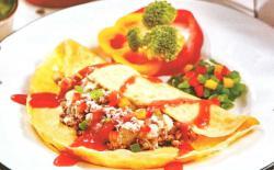 主人与狗狗共享餐:番茄牛肉奶酪蛋包饭